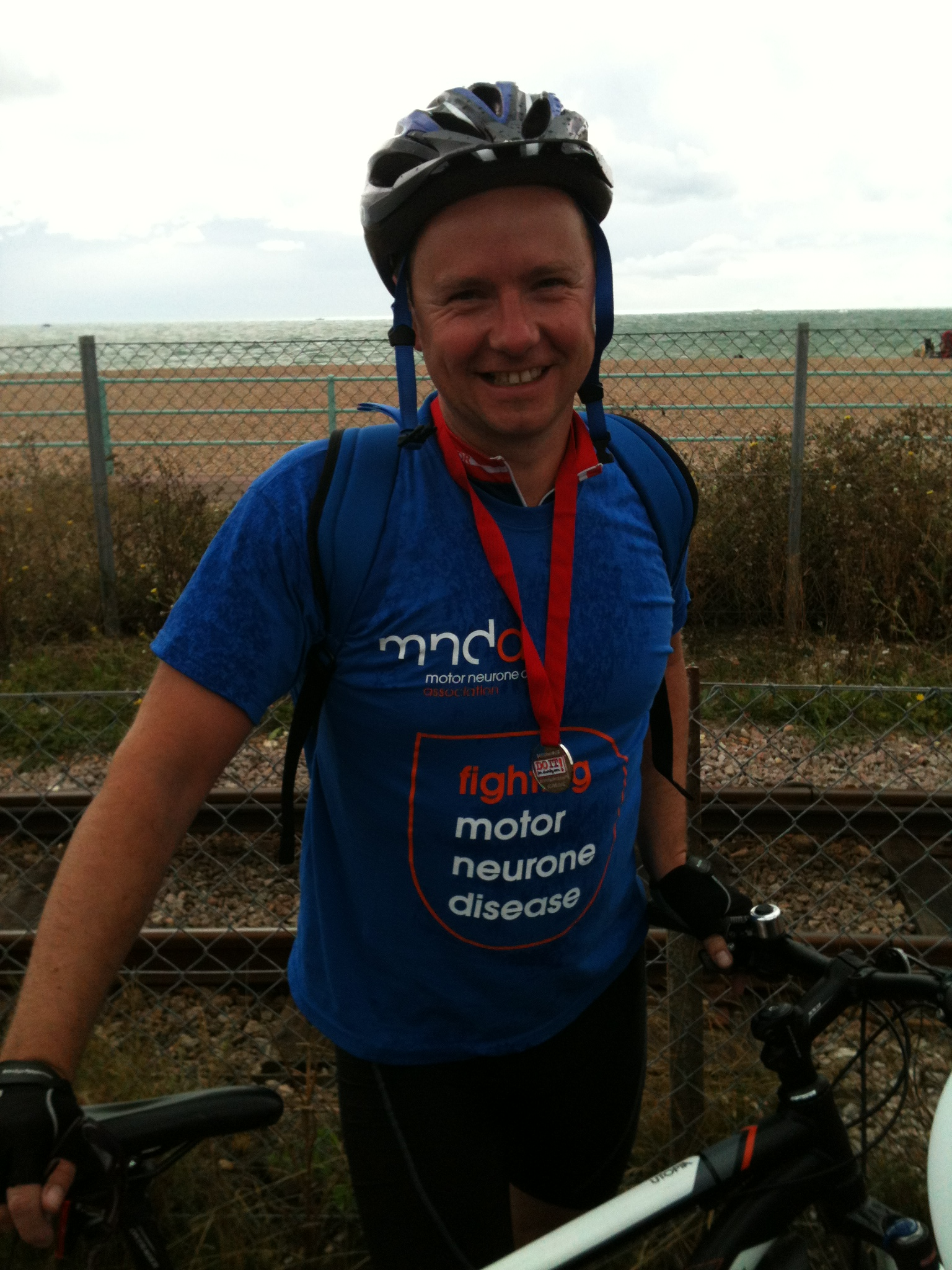 STEVE CYCLES FROM LONDON TO BRIGHTON TO RAISE FUNDS FOR MOTORNEURONE DISEASE
