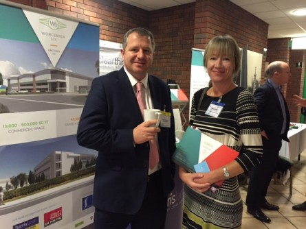 Charles D'Auncey with Helen Wilkes of the HCA