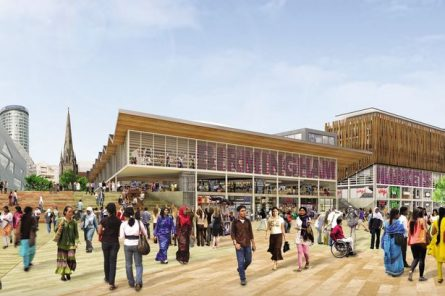 CGI of plans for new markets as part of the Birmingham Smithfield regeneration scheme
