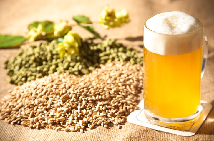 beer and the raw materials for it