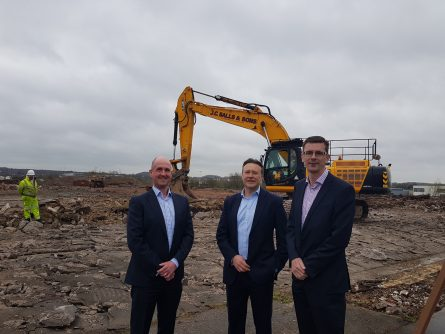 WORK COMMENCES ON TUNSTALL TRADE PARK