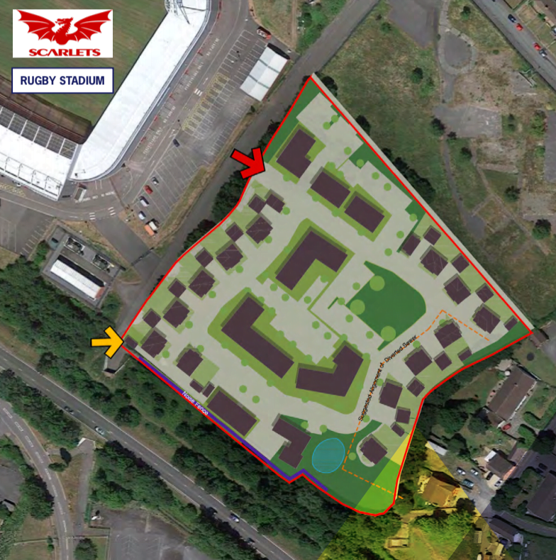 HARRIS LAMB MARKETS LLANELLI LAND PARCEL WITH PLANNING FOR 94 NEW HOMES