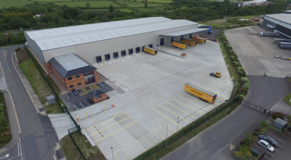 Gilbert House, a bespoke 108,000 sq ft distribution facility on Denby Hall Business Park